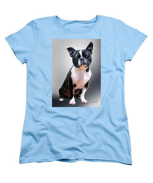 Boston Terrier By Spano Women's T-Shirt (Standard Cut) by Michael Spano