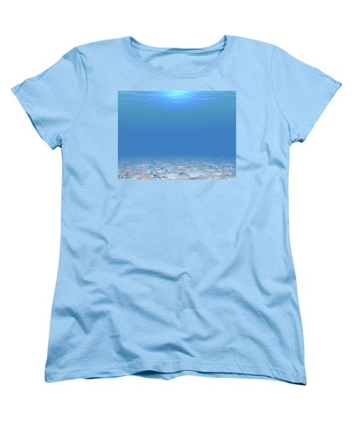 Women's T-Shirt (Standard Cut) featuring the digital art Bottom Of The Sea by Phil Perkins