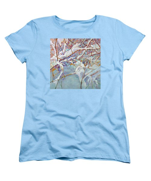 Women's T-Shirt (Standard Cut) featuring the painting Boughs In Winter by Joanne Smoley