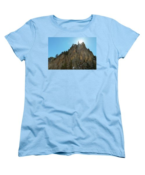 Women's T-Shirt (Standard Cut) featuring the photograph Boulder Canyon Narrows Pinnacle by James BO Insogna