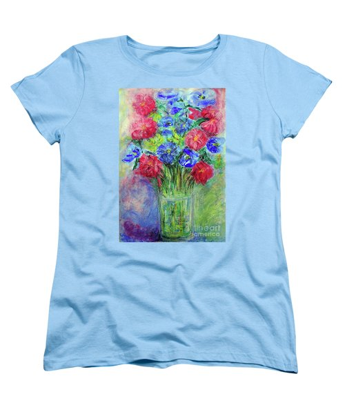 Women's T-Shirt (Standard Cut) featuring the painting Bouquet by Jasna Dragun