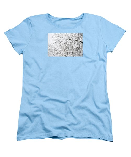 Branches Weighted With Snow Women's T-Shirt (Standard Cut) by Deborah Smolinske