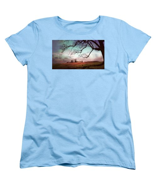Break Of Dawn Women's T-Shirt (Standard Cut) by John Rivera