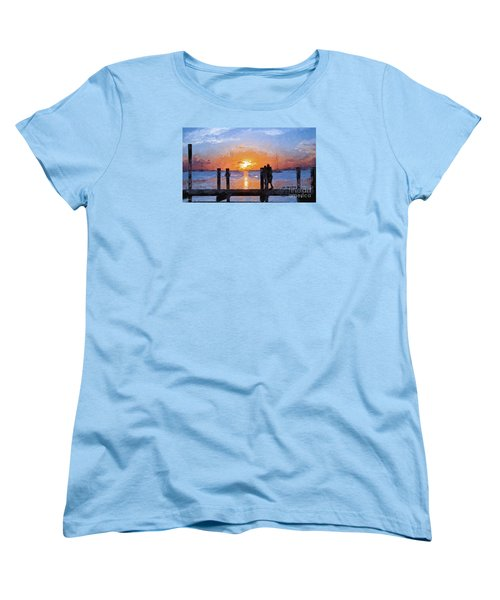 Women's T-Shirt (Standard Cut) featuring the painting Break On Through  by Judy Kay