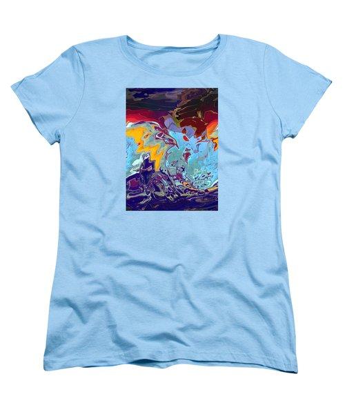 Breaking Waves Women's T-Shirt (Standard Cut) by Alika Kumar
