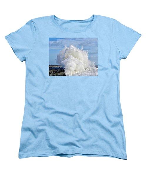 Breakwater Explosion Women's T-Shirt (Standard Cut) by Michael Cinnamond