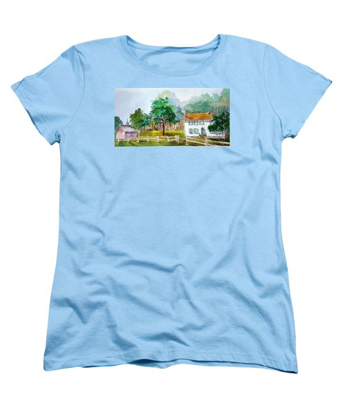 Brecknock Park Women's T-Shirt (Standard Cut) by Larry Hamilton