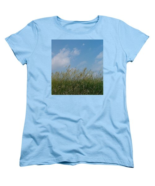 Women's T-Shirt (Standard Cut) featuring the photograph Breezy Day by Sara  Raber