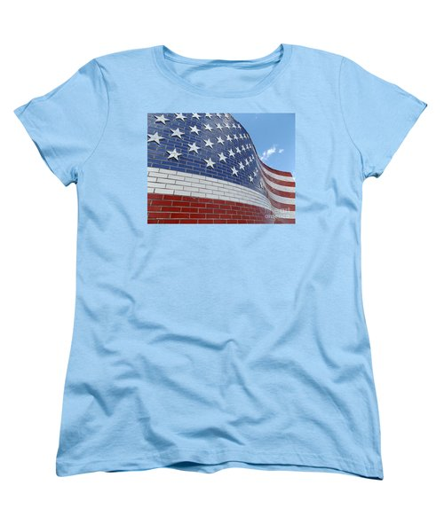 Brick Flag Women's T-Shirt (Standard Cut) by Erick Schmidt
