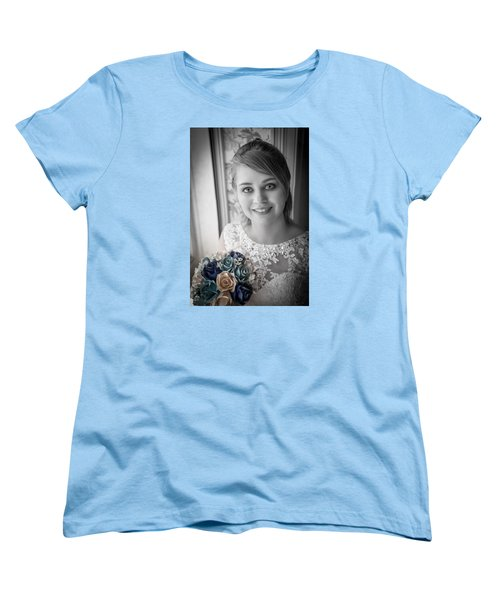 Women's T-Shirt (Standard Cut) featuring the photograph Bride At Window by Ray Congrove