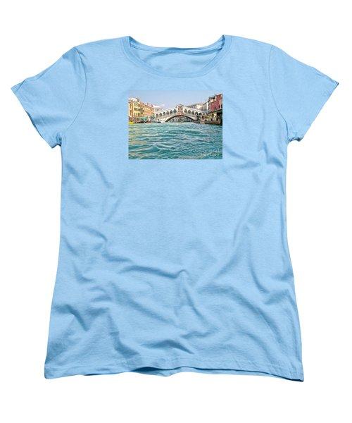 Women's T-Shirt (Standard Cut) featuring the photograph Bridge In Venice by Roberta Byram