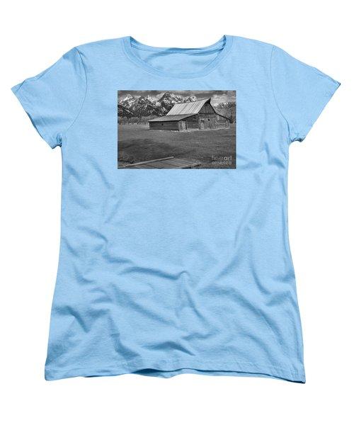 Bridge To The Barn Black And White Women's T-Shirt (Standard Cut) by Adam Jewell