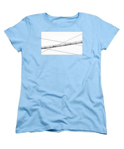 Women's T-Shirt (Standard Cut) featuring the photograph Bridge Walker by Joe Bonita