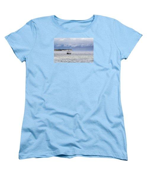 Bridlington Pirate Ship Women's T-Shirt (Standard Cut) by David  Hollingworth