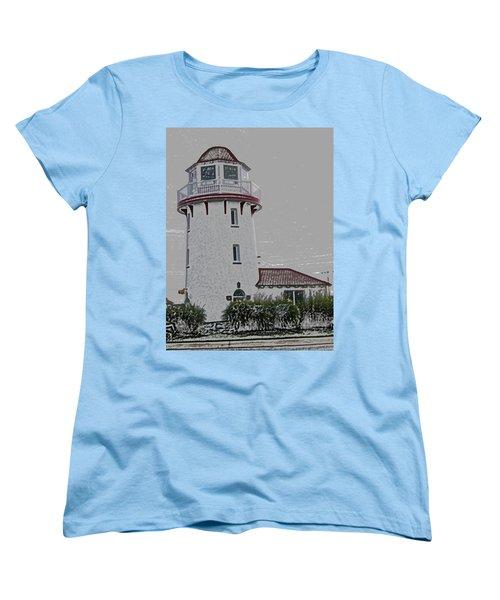 Brigantine Lighthouse Women's T-Shirt (Standard Cut) by Trish Tritz