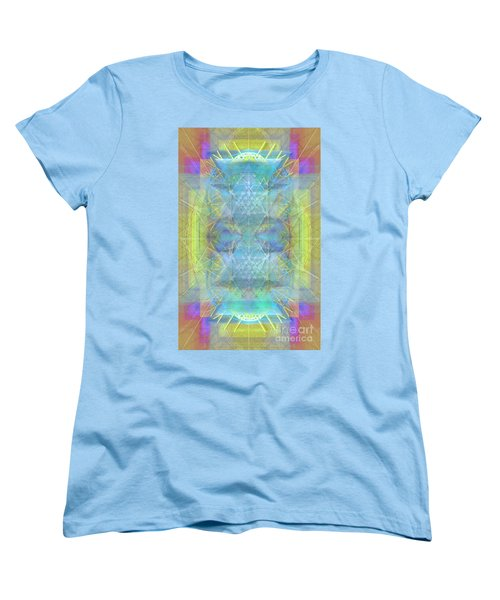 Women's T-Shirt (Standard Cut) featuring the digital art Bright Chalice Ancient Symbol Tapestry by Christopher Pringer