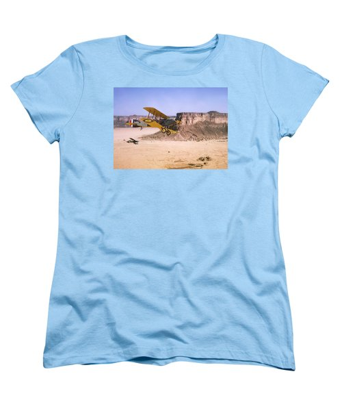 Women's T-Shirt (Standard Cut) featuring the photograph Bristol Fighter - Aden Protectorate  by Pat Speirs