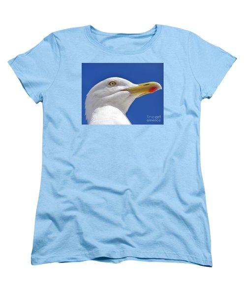 Women's T-Shirt (Standard Cut) featuring the photograph British Herring Gull by Terri Waters