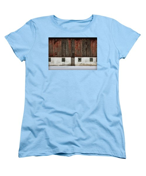 Women's T-Shirt (Standard Cut) featuring the photograph Broad Side Of A Barn by Julie Hamilton
