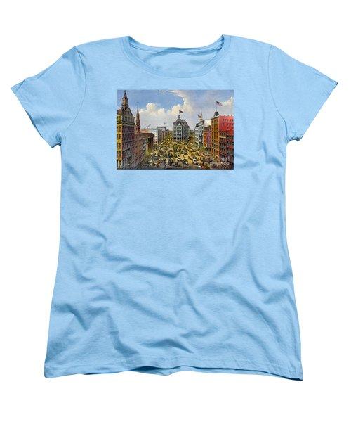 Broadway New York City 1875 Women's T-Shirt (Standard Cut) by Padre Art