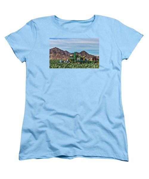 Broccoli Harvest Women's T-Shirt (Standard Cut) by Robert Bales