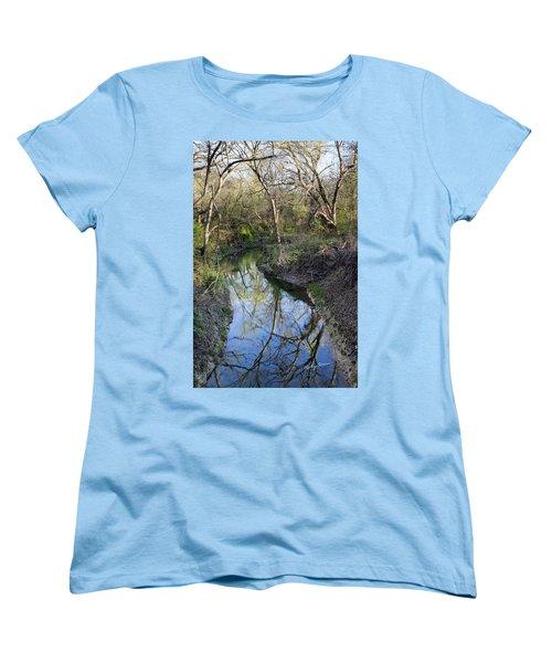 Broken Branch Creek Women's T-Shirt (Standard Cut) by Ricky Dean