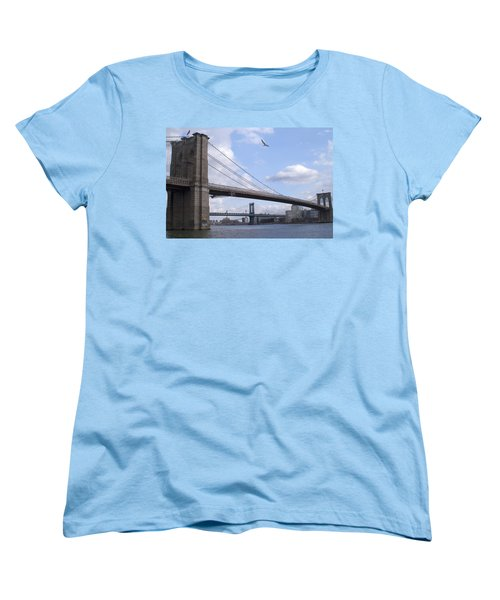 Brooklyn Bridge  Women's T-Shirt (Standard Cut) by Henri Irizarri