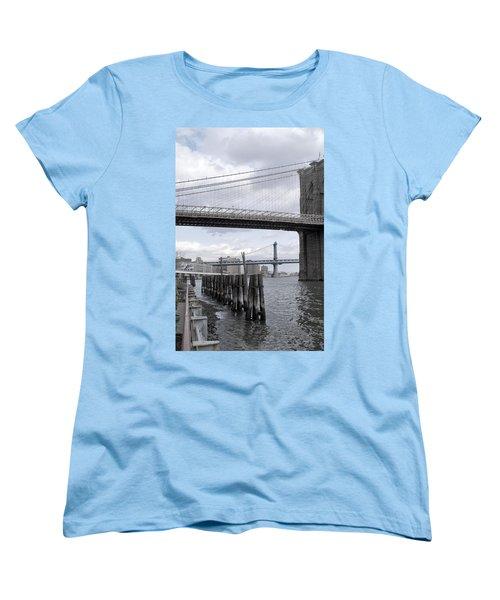 Brooklyn Bridge II Women's T-Shirt (Standard Cut) by Henri Irizarri