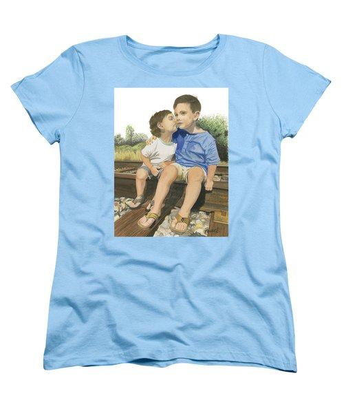 Brotherly Love Women's T-Shirt (Standard Cut) by Ferrel Cordle