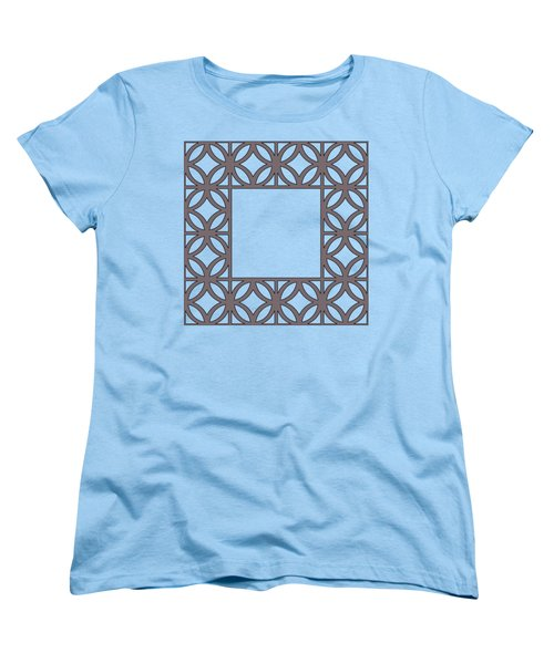 Women's T-Shirt (Standard Cut) featuring the digital art Brown Circles And Squares by Chuck Staley