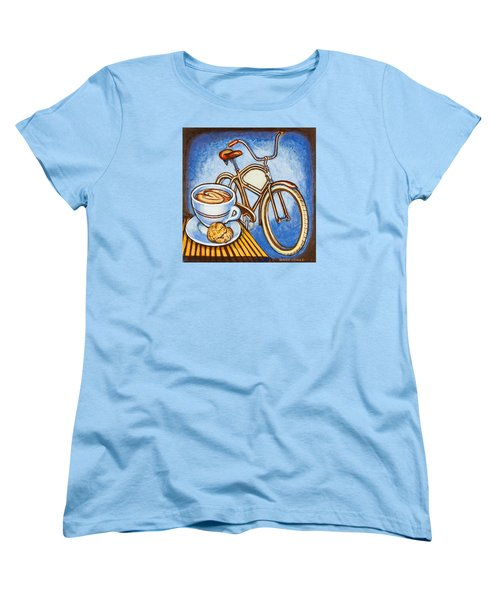 Brown Electra Delivery Bicycle Coffee And Amaretti Women's T-Shirt (Standard Cut) by Mark Jones