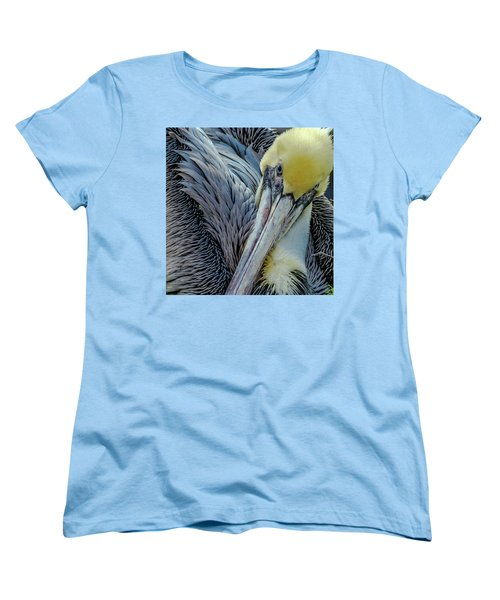 Women's T-Shirt (Standard Cut) featuring the photograph Brown Pelican by Bill Gallagher