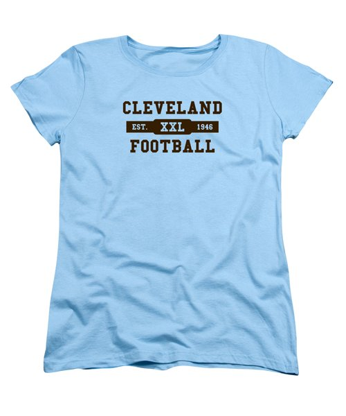 Browns Retro Shirt Women's T-Shirt (Standard Cut) by Joe Hamilton