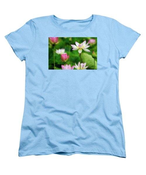 Women's T-Shirt (Standard Cut) featuring the photograph Brushed Lotus by Edward Kreis