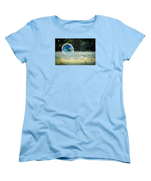 Women's T-Shirt (Standard Cut) featuring the photograph Bubble by Cheryl McClure