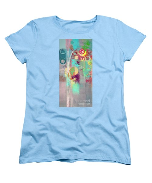 Women's T-Shirt (Standard Cut) featuring the digital art Bubble Tree - 285r by Variance Collections