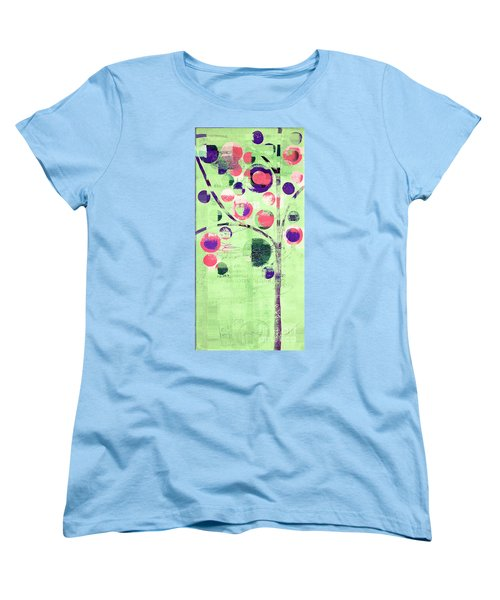 Women's T-Shirt (Standard Cut) featuring the digital art Bubble Tree - 224c33j5l by Variance Collections