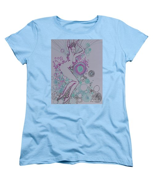 Women's T-Shirt (Standard Cut) featuring the drawing Bubbles by Marat Essex