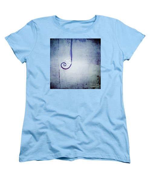Women's T-Shirt (Standard Cut) featuring the digital art Bubbling - 033a by Variance Collections