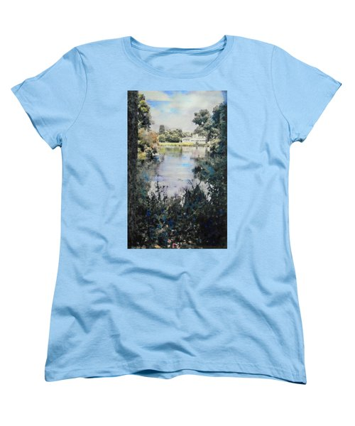 Buckingham Palace Garden - No One Women's T-Shirt (Standard Cut) by Richard James Digance