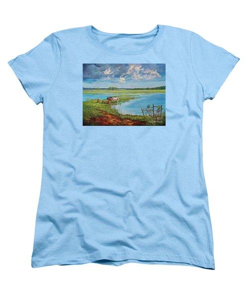 Bucolic St. John's Women's T-Shirt (Standard Cut) by AnnaJo Vahle