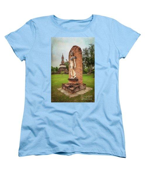 Women's T-Shirt (Standard Cut) featuring the photograph Buddha Statue Sukhothai by Adrian Evans