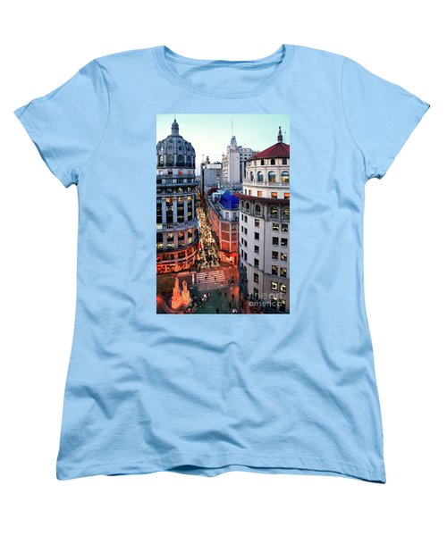 Women's T-Shirt (Standard Cut) featuring the photograph Buenos Aires Street I by Bernardo Galmarini