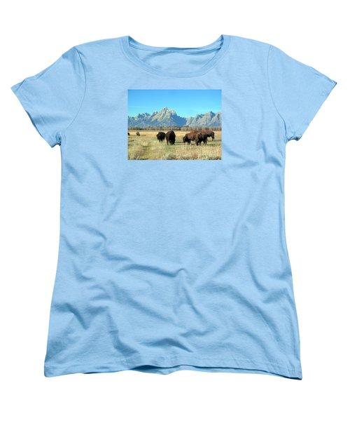 Buffallo  Women's T-Shirt (Standard Cut) by Irina Hays