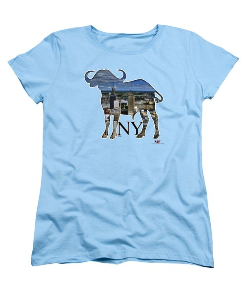 Buffalo Ny Court St Women's T-Shirt (Standard Cut) by Michael Frank Jr