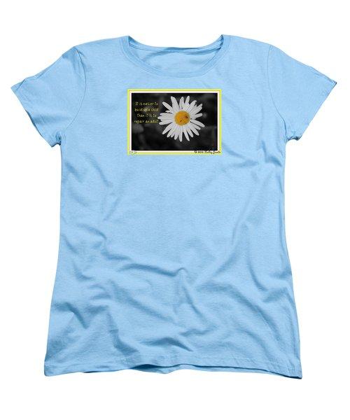 Build A Child Up Women's T-Shirt (Standard Cut)