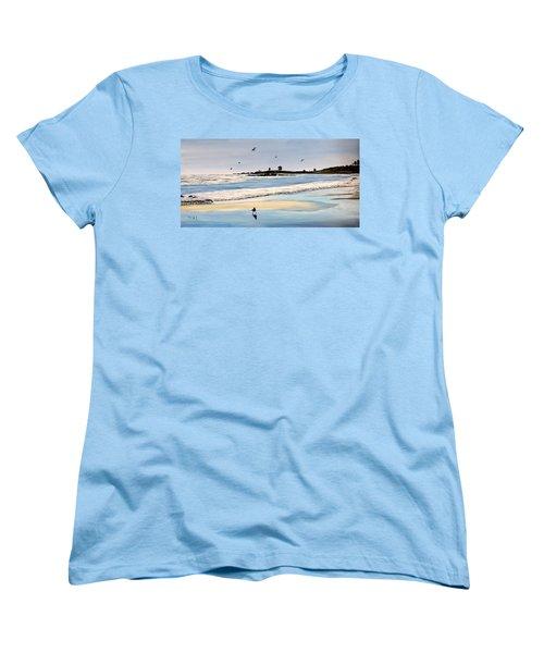 Bull Beach Women's T-Shirt (Standard Cut) by Marilyn McNish