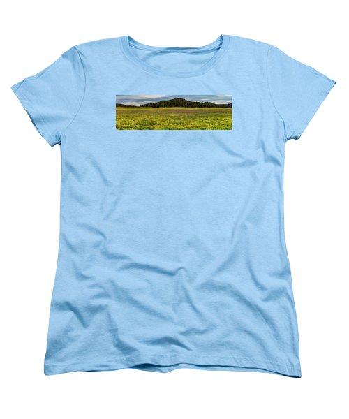 Women's T-Shirt (Standard Cut) featuring the photograph Bull Prairie by Leland D Howard