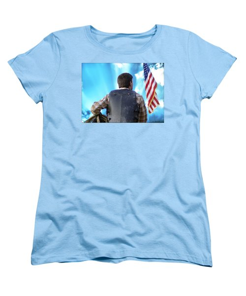 Women's T-Shirt (Standard Cut) featuring the photograph Bull Rider by Brian Wallace