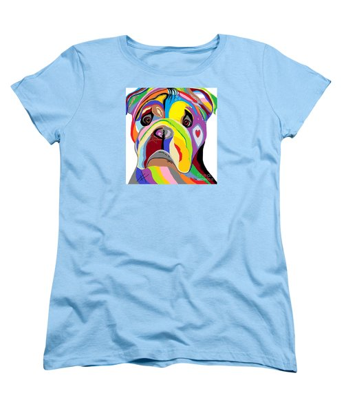 Bulldog Women's T-Shirt (Standard Cut) by Eloise Schneider